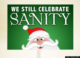 we still celebrate sanity (pic of Santa)