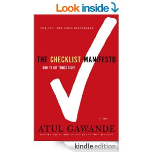 Cover of Checklist Manifesto book
